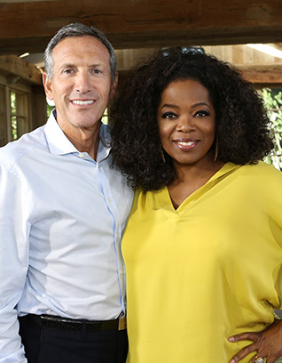 Oprah & Howard Schultz